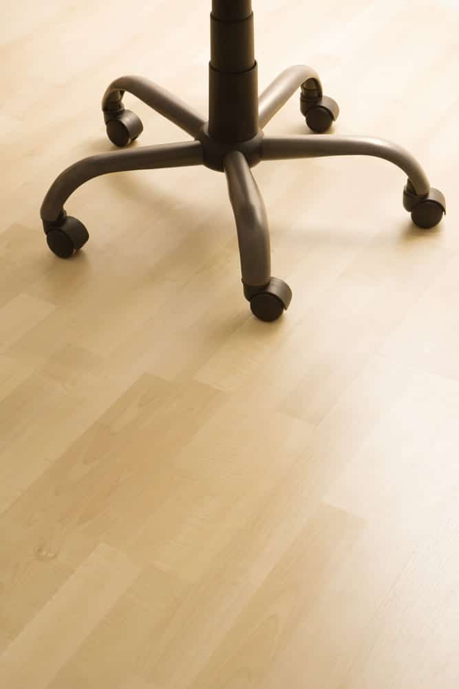 office chair on wooden floor
