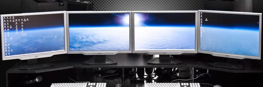 best dual and multi monitor desk