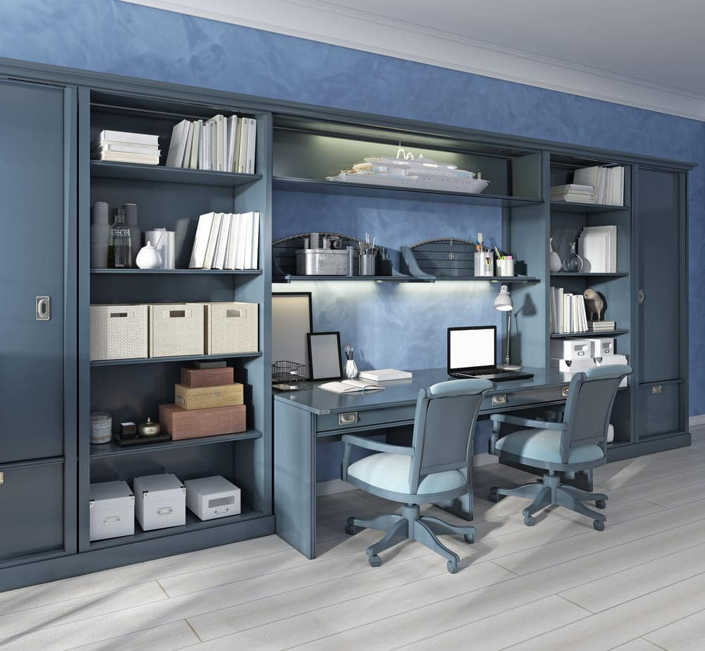 wardrobe shelve home office for 2 people