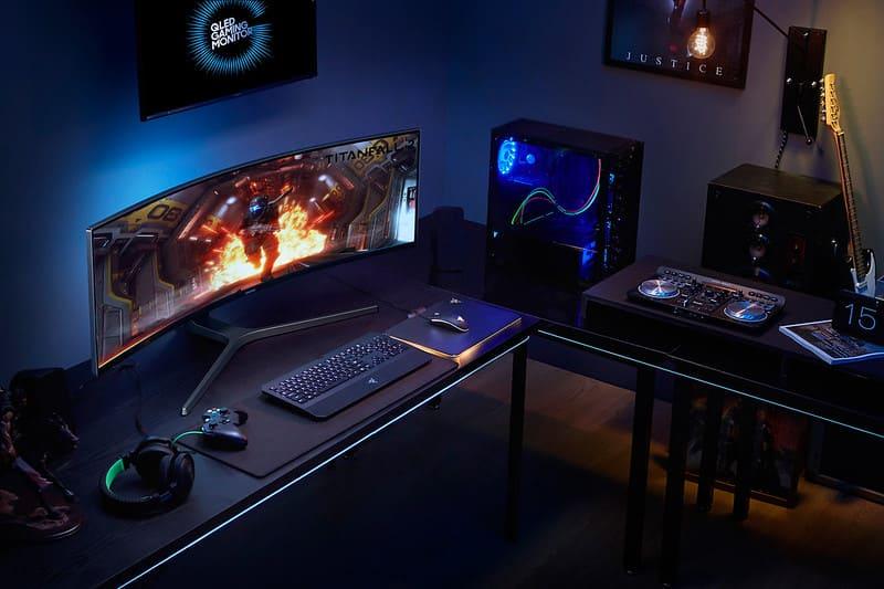 stylish gaming setup