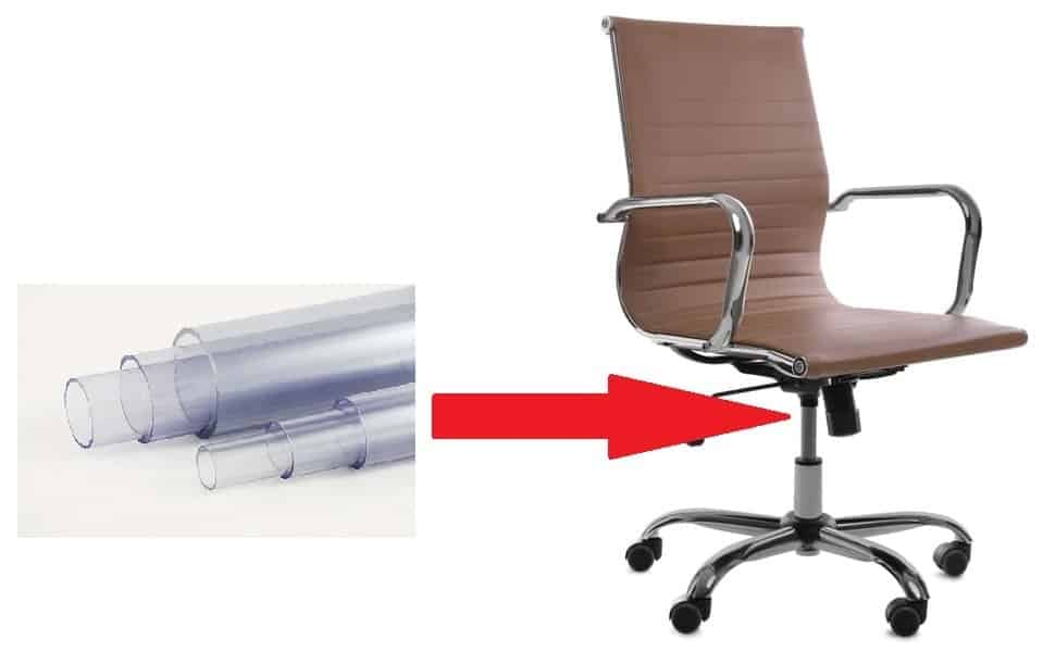 pvc pipe on office chair