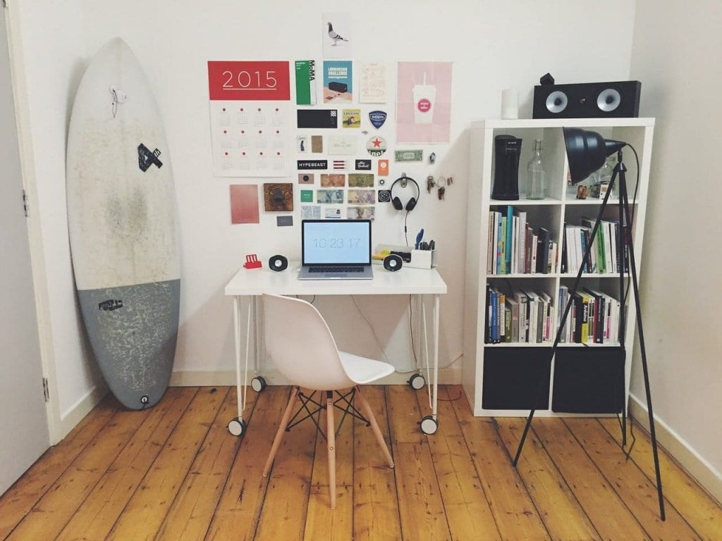 small surfer office
