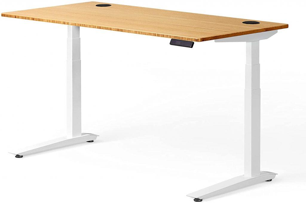 fully standing desk bamboo