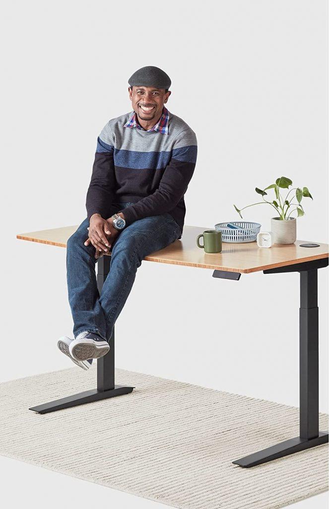 man sitting on jarvis desk