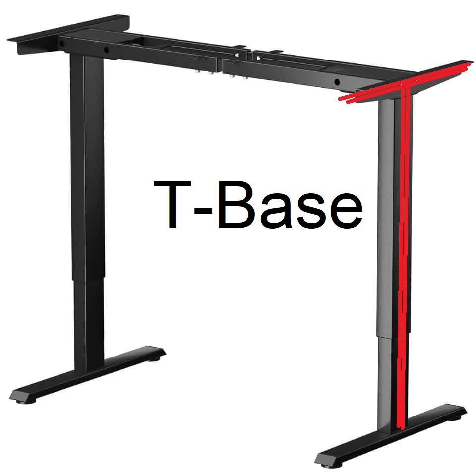 t-base desk frame